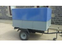 5x4 box trailer removable aluminium top with locks new tyres