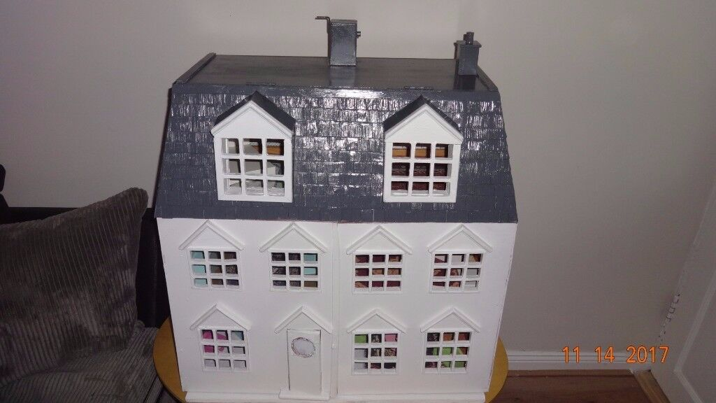 Bespoke 3 Storey Doll's House with Working Elevator in it - Unique Handmade