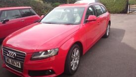 Audi A4 Avant 2008 Full Main Dealer History Red one previous owner