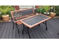 Cast Iron Garden Bench & Table. (Price Reduced)