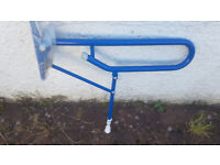 Bathroom Support, hinged, dark blue