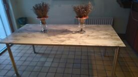 Marble Dining Table Calcuta Gold Vein Marble Art Deco 1975
