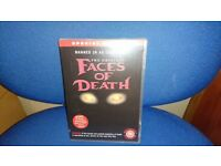 VERY RARE FACES OF DEATH DVDS
