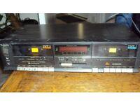 technics RS b33w double cassette deck