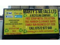 Free Scrap Metal Collection & Free Rubbish Clearance Quotes