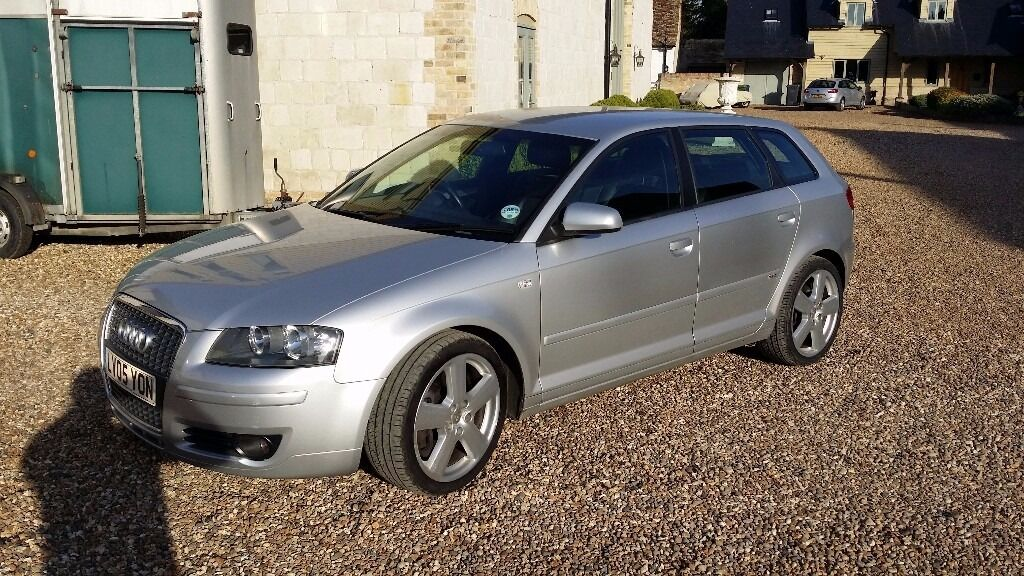 audi a3 3 2 v6 s line quattro petrol 5 door sportback silver 2005 dsg gear box 250 bhp in. Black Bedroom Furniture Sets. Home Design Ideas