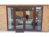Rosewood Mahogany upvc fixed side panels