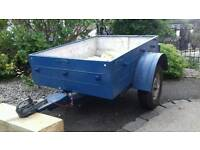 Sturdy 4x3 steel trailer
