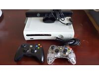 XBOX 360 WITH KINECT 2 CONTROLLERS