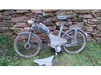 Vintage Retro French Griffon Motorbike Moped Mobylette (Lever to disable or enable motor)