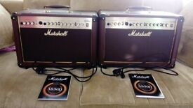 A pair of Marshall AS50D Acoustic 50W Combo Amplifiers (superb condition)