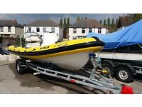 Ribeye 6m RIB fitted with a 100hp F100 4 stroke Yamaha Outboard