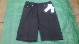 NEW ~ 1 PAIR GREY SHORTS ~ ADJUSTABLE WAISTBAND ~ 12 - 13 YEARS