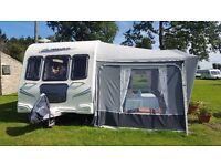 !!!! Bailey Pegasus 524 - 4 berth touring caravan 2010 - great condition + full size awning !!!!