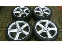 "GENUINE AUDI 19"" ALLOY WHEELS 5X112 A3 A4 A5 A6 A7 A8 S4 Q3 RS C E VW GOLF TT PASSAT SHARAN"