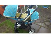 icandy twin pushchair