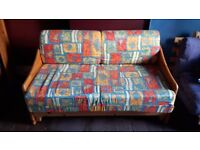 Funky roll-open sofabed. Pick up only.