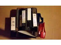 Box of used Lever Arch files in good condition