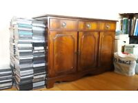 Sideboard - Solid Dark Wood 3 drawers and 3 cupboards