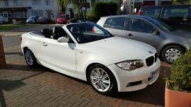 BMW 1 Series 120d m sport convertible white e88 NOT 116d 118d 3 series