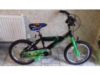 "KIDS BOYS CHILDREN SPIKE 16"" WHEEL AGES 5- 8 BIKE BICYCLE"