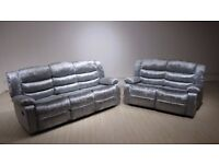 🔰BEST QUALITY🔰SOFT FABRIC🔰BRAND NEW LUXURY CANDY CRUSH 3+2 SEAT SOFA SET IN BLACK/BROWN/GREY CLRS