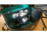 Zenit-E SLR camera with lots of accesories