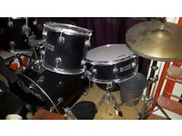 Ridgewood drum kit with stool and sticks