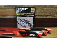 Renault Clio Haynes Manual & wiper blades