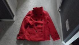 Red coat H&M size S