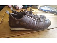VINTAGE ADIDAS CHILE 62 BROWN TRAINERS