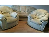 3 seater sofa+ 2 armchairs