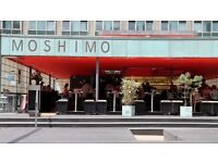 Moshimo a busy Japanese restaurant looking for Chefs