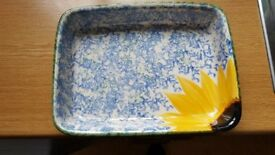 Poole Pottery Lasagne Dish/Serving Dish in Vincent Design