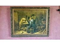 """A Nice Gold Framed Print of 'Soldiers' by Brouwer 18"""" x 14"""""""