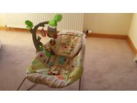 Fisher Price Woodsy Time baby bouncer