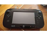 OFFICIAL GENUINE NINTENDO WII U GAMEPAD UK PAL IDEAL REPLACEMENT BLACK