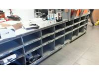 Front counter with shelving and worktop