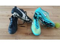 football boots size 9 - 2 pairs