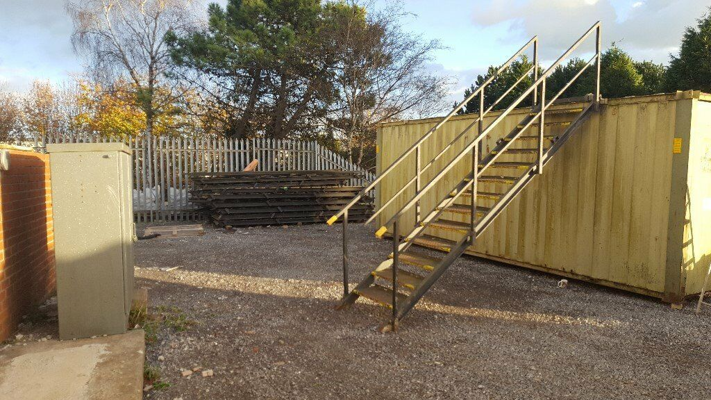 Container Stairs 13 Steps And Hand Rail 20ft 40ft Upper