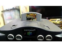 N64 console with games
