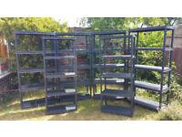 6 x Garage Plastic Storage Unit Warehouse Shed Racking Shelving Shelves 5 Tier