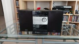 Black Sony Micro Hifi with iPod dock