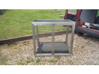 Large heavy duty dog cage
