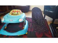 Baby walker plus chair