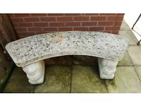 stone garden bench / ornament used