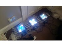 AQUARAY 1000HD Ultra Reef White Plus marine light X3 and x3 controler, marine light fish tank