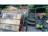 Wooden Shed 8' x 6' - ideal for firewood. Lots of good wood, but some of it is rotten. FREE