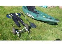 Fishing Sit on Kayak with extras Malibu mini x