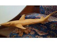 Hand Carved Wooden Shark